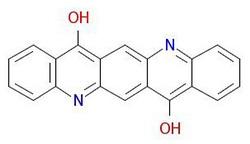 صبغ البنفسج 19 بنية جزيئية